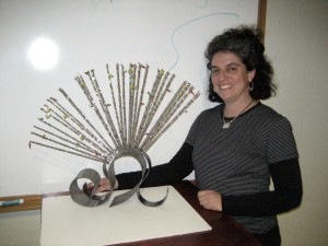 Danielle Satinover sculpture has to be seen in person! Incredible artistry of steel, nickel and glass!